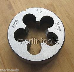 18 Mm X 1.5 Metric Hss Rechterhand Sterven M18 X 1.5 Mm Pitch