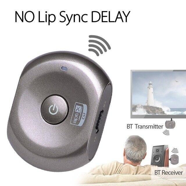 Avantree aptX Adaptador 2-en-1 Wireless Bluetooth Receptor y Transmisor de BAJA LATENCIA para la Fuente de Audio Sistema de Casa-Saturno Pro