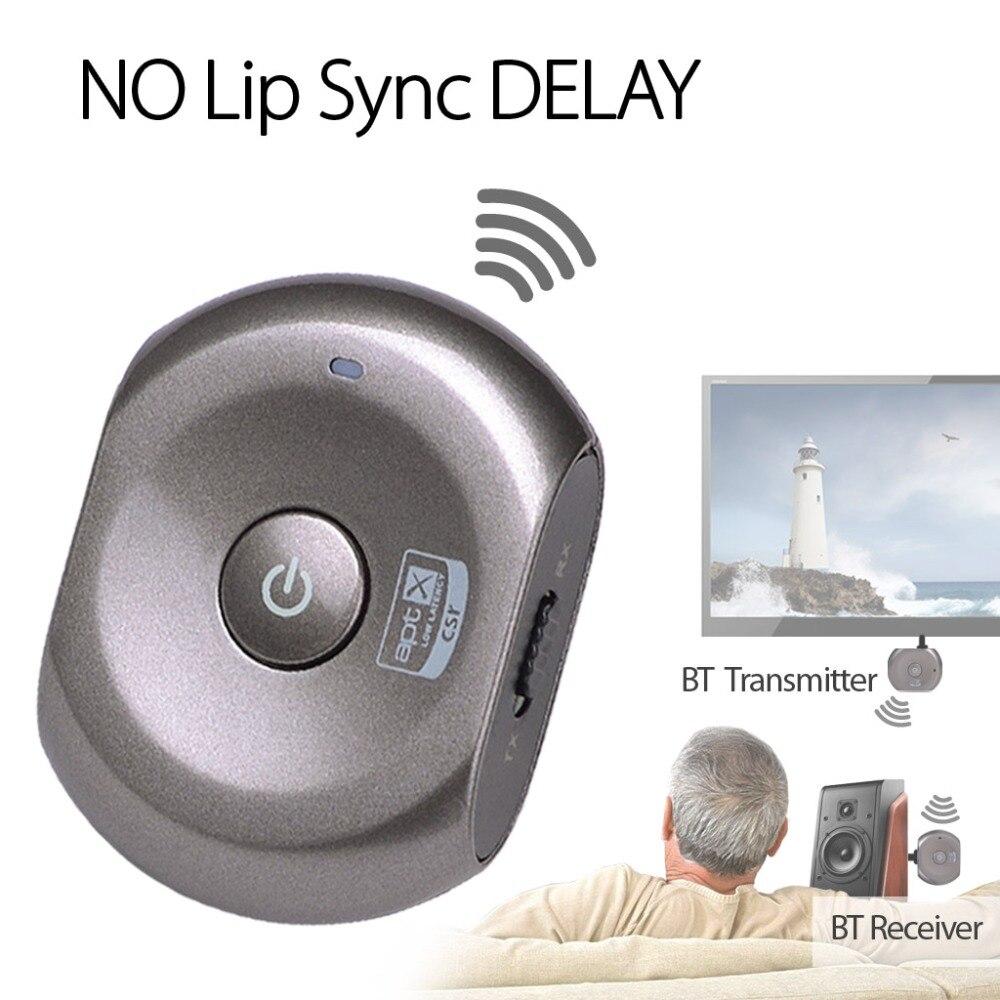 Récepteur et transmetteur Bluetooth à faible latence aptX Avantree adaptateur sans fil 2-en-1 pour système domestique Audio Source-Saturn Pro
