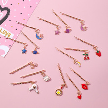 Girls Vintage Barrette Cute Fashion Bobby Hair Pins Star Heart Moon Clips Sexy Lips Decorative Accessory S35