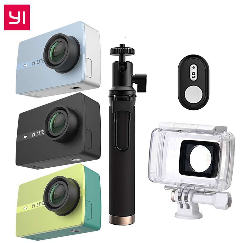 Edizione internazionale YI Lite Action Camera 16MP Reale 4 K Sport Fotocamera Bluetooth WIFI 2