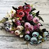 9Heads Small Silk Artificial Flowers Peony Bouquet