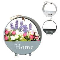 Iron Flowerpot Home Garden Hanging Flower Pot Basket Modern Vertical Plant Pot Storage Container Pot De