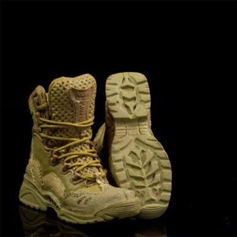 2 Paar 1//6 Flache Taktische Stiefel Schuhe Für Männer 12 /'/' Action Figure