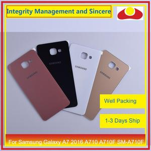 Image 2 - Original For Samsung Galaxy A7 2016 A710 A710F SM A710F Housing Battery Door Rear Back Cover Case Chassis Shell Replacement