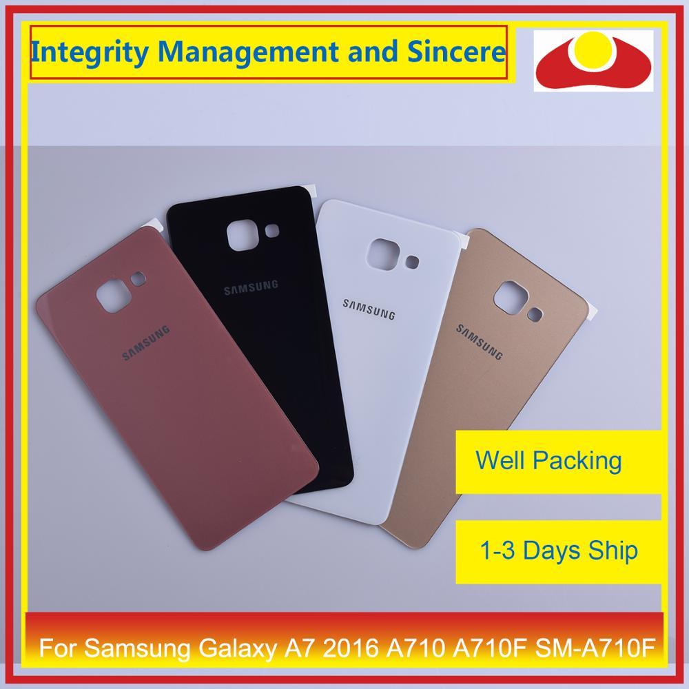 Image 2 - Оригинальный Для Samsung Galaxy A7 2016 A710 A710F SM A710F корпус батарея Дверь задняя крышка корпус Корпус Замена-in Корпуса и рамки для мобильных телефонов from Мобильные телефоны и телекоммуникации