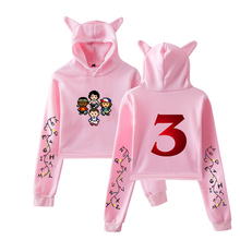 LUCKYFRIDAYF New Stranger things 3 fashion trend sala Cat Crop Top Women Hoodies Sweatshirt Sexy hot Kpop Harajuku Size 2XL