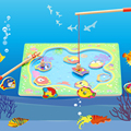 Magnetic Go Fishing Board Game Wood Toys Baby Intelligence Educational Toys Boy Girl Kids Toys Montessori Puzzles