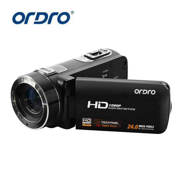 ORDRO HDV-Z8 1080P Full High Definition Video Recording 16x Digital Zoom 24.0 Mega-Pixel HI CMOS Sensor Camera With LCD Screen winait electronic image stabilization hdv z8 digital video camera with recording function touch screen