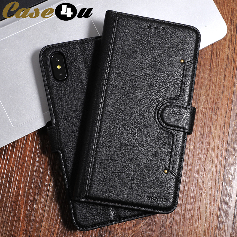 Luxury PU Leather Wallet Flip Stand Phone Cases for iPhone XS MAX XR 10 8 7 6 6s Plus 8Plus Credit Card Money Slot Holder Cover(China)