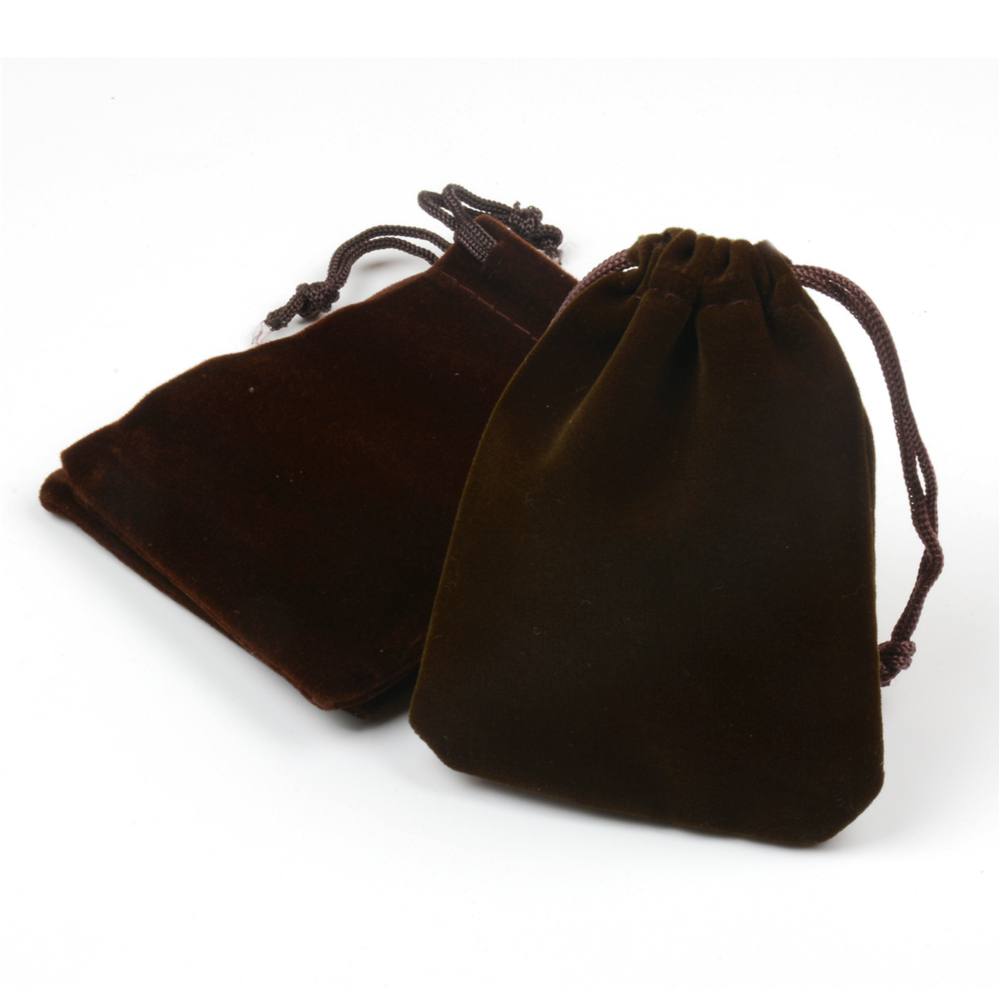 Wholesale Velvet Jewelry Pouches Us 9 34 15 Off 7x9cm 50pcs Lot Brown Small Velvet Drawstring Bags Wedding Favor Cute Candy Jewelry Pouch Gift Bags Headphones Bag In Gift Bags