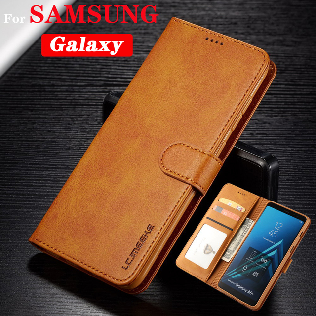Flip Leather Case For Samsung Galaxy S8 S9 S10 E Plus Note10 Pro S7 A 10 20 40 50 60 70 80 90 M 10 20