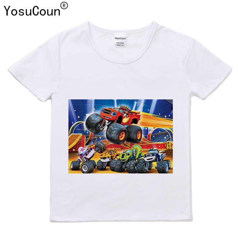 92bc0b5af ... Niños camiseta para niños Monster máquina camiseta Tops niños Blazing  Speed corto-manga de la ...