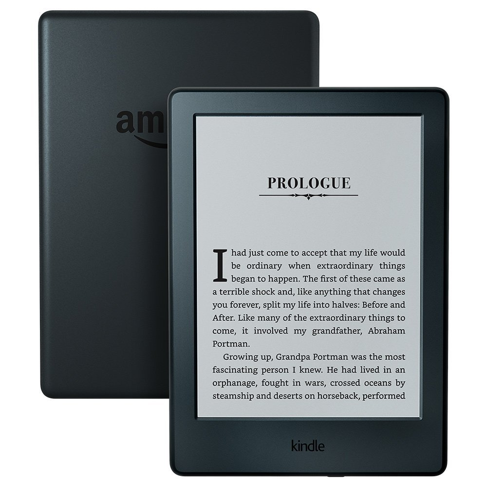 Kindle Black 2016 version écran tactile, logiciel Kindle exclusif, lecteur de livres électroniques Wi-Fi 4 GB eBook e-ink 6 pouces
