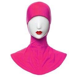 Hijab Sob Cap Cachecol Chapéu Osso Tampa Capô Islâmico Desgaste Da Cabeça Banda Pescoço Peito B2