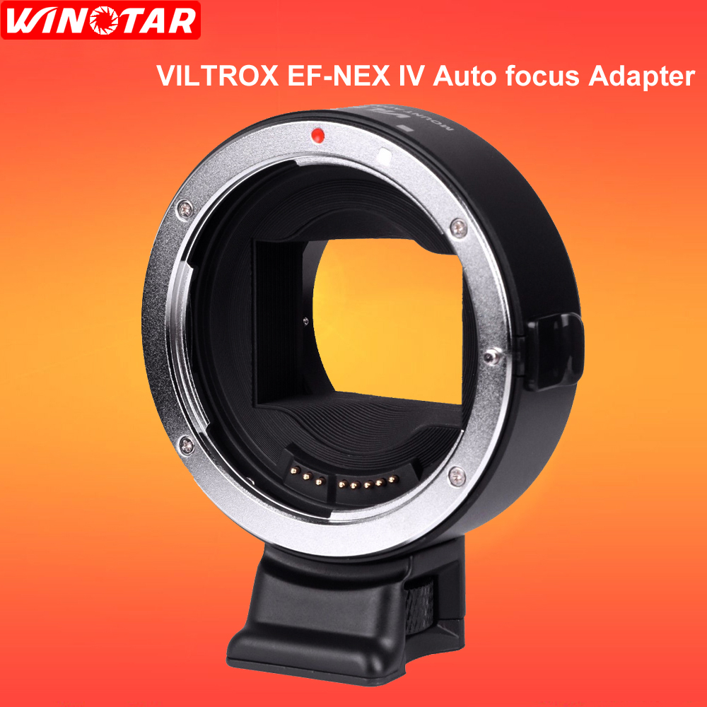 VILTROX EF-NEX IV Auto focus Adapter mount for Canon EF Lenses to use on Sony Full frame A9 A7R camera E mount A6500 A6300 NEX-7 цена и фото