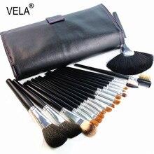 High Quality  Makeup Brushes Set 18pcs Nature Hair Makeup Tools Kit with PU Case