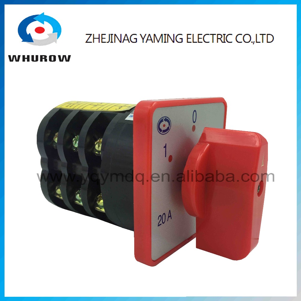 HZ5-20/4 M05 Combination Changeover rotary cam switch 4kw 20A 4 poles 3 positions DC voltage 240V sliver contacts high voltage load circuit breaker switch 660v 25a on off 3 poles 3 phases 3no rotary control changeover cam universal combination switch