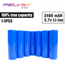 FELYBY Original High quality 18650 li ion Battery 100% 2400mAh Rechargeable Battery 3.7V 18650 lithium battery for laser pen(China)