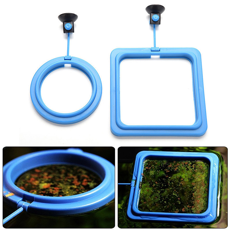 Feeding Ring Aquarium Fish Tank Station Floating Food Tary Feeder Square/circle Drop Shipping