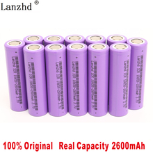 5-40Pcs 18650 5C discharge Battery 2600mAh li ion Batteries 3.7V for E-cigarettes, electric drills,electric