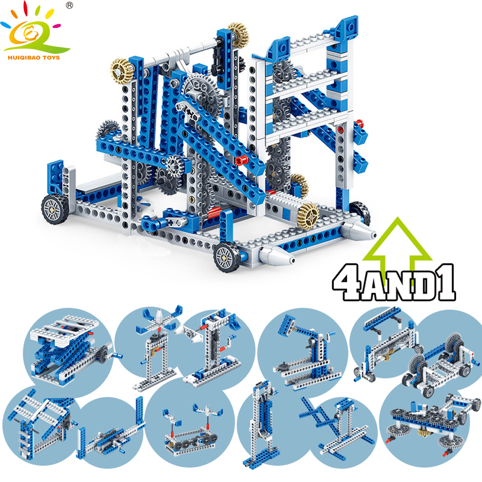 354pcs 4in1 Inventor Engineering Truck Building Blocks Compatible Legoingly Technic Construction Set DIY Brick Toys For Children