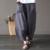 Ropa de Algodón Elástico de la cintura de Las Mujeres diseño de La Novedad Del Verano Pantalones de pierna Ancha Floja Ocasional Sólido de Color Caqui Negro Pantalones Capris A093