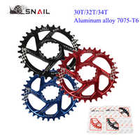 SNAIL GXP Narrow Wide Chainring MTB Aluminum Bicycle Chain Ring Road Mountain Bike  30T 32T 34T 7075 Aluminum Alloy Chainring