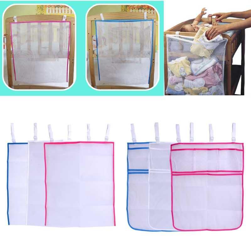 Детская кровать висит сумка для хранения кроватки органайзер для игрушек пеленки карман для Колыбели Постельные принадлежности