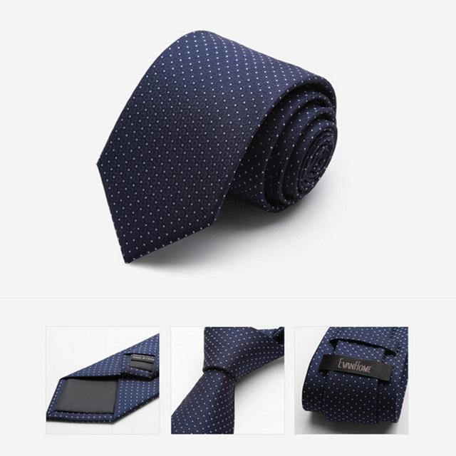 2016 de Alta Calidad de Imitación de Seda Lazo Lazos de Moda para Hombres Casual con Polka Dot 7 cm Corbata Delgada Corbata Con Caja de Regalo Libre entrega