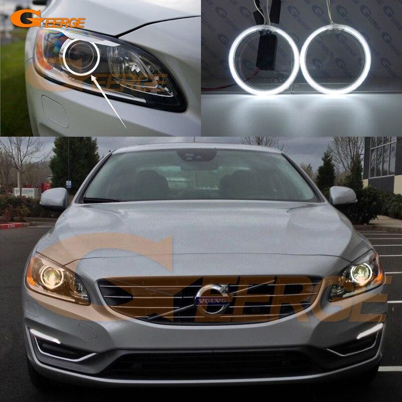 For Volvo S60 S60L V60 2014 2015 2016 Xenon Headlight Excellent angel eyes Ultra bright illumination CCFL Angel Eyes kit kolona vojsk s opolcheniya voshla v doneck 05 07 2014