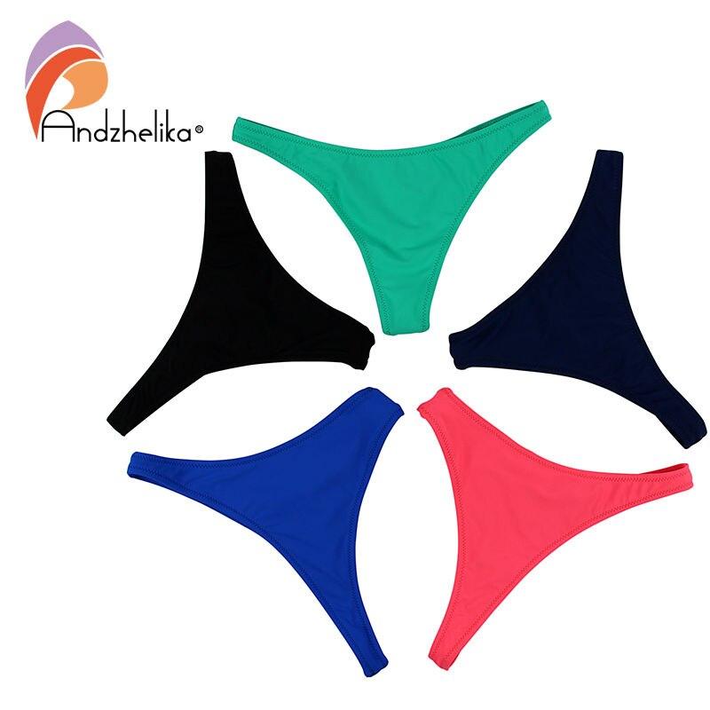 2018 Swimming Briefs V Shape Solid Brazilian Bikini Bottom Sexy Straps Bikini Brief Bottom Swimwear Trunks Underwear Plus Size