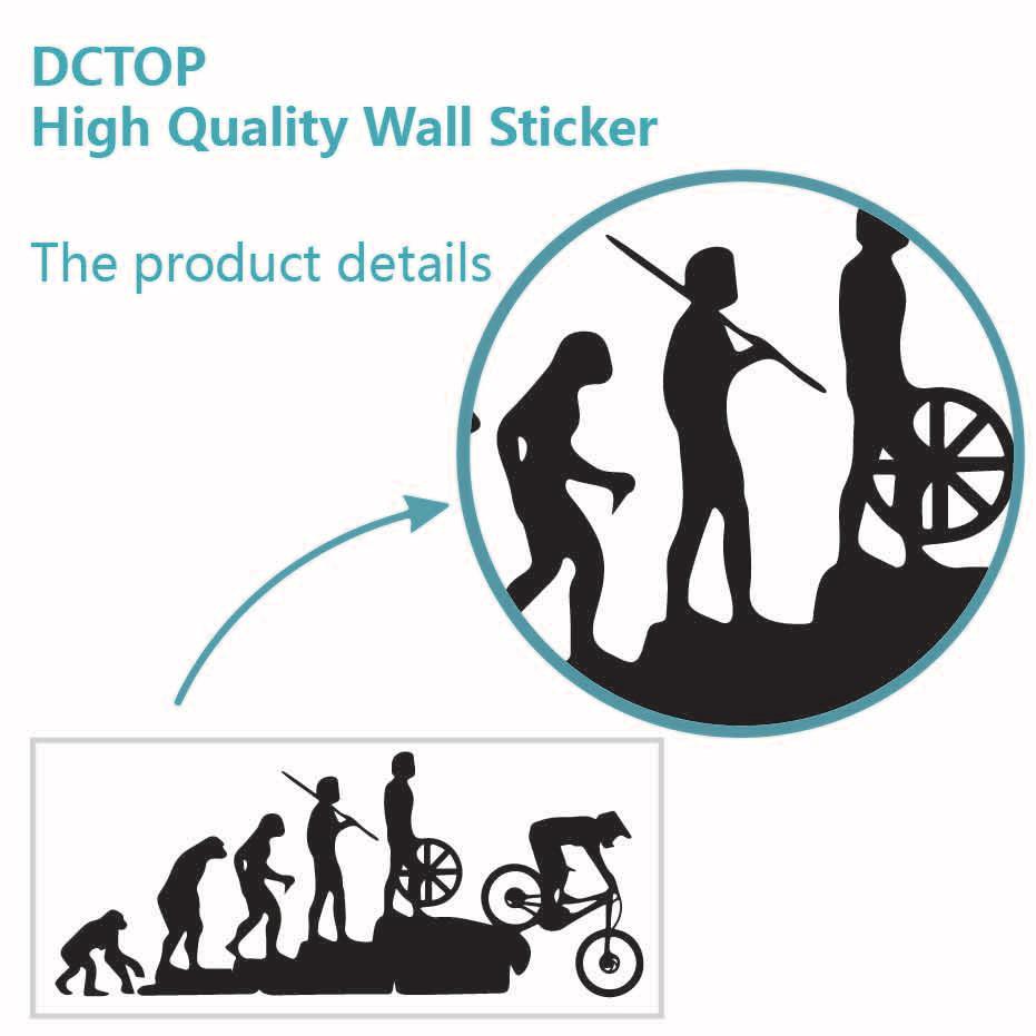 Interesting Evolution Sticker Bike Mountain Downhill Cartoon Car Stickers Personalized Removable Vinyl For Window Door Decals