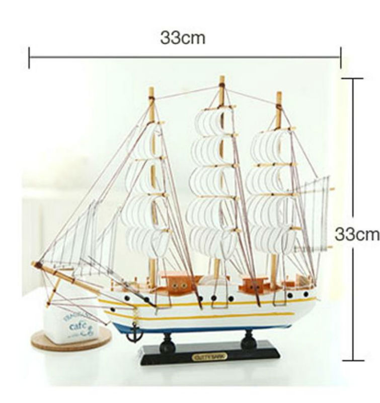 Home decor handmade wooden model pirate sailing ship for Ship decor home