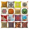 Geometric Flower Xmas Linen Throw Pillow Case Home use Cushion case