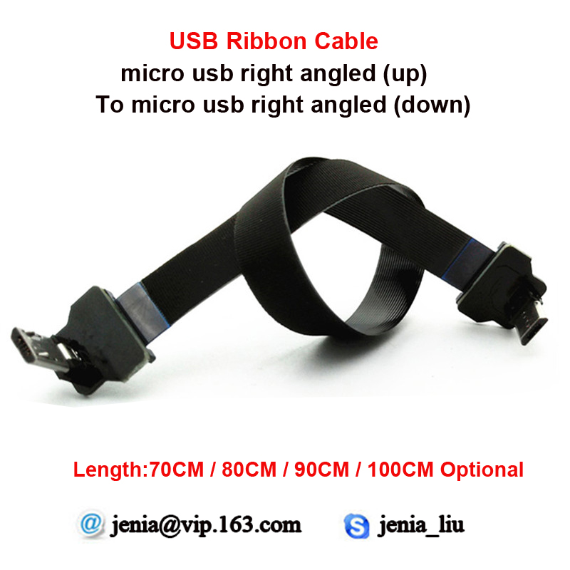 70CM 80CM 90CM 100CM New Flexible Micro Data Usb Cable micro up angled male to micro down angled adapter flat micro usb male to usb 2 0 male data sync charging cable for samsung more purple 100cm