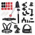 28-en-1 accesorios kits para gopro hero4 hd 3 +/3/2/1 yi xiao sjcam impermeable submarino acción deportes al aire libre de la videocámara de la cámara