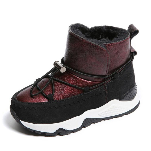 Children sneakers boys children's shoes winter new lace girls warm shoes new children's suede boots