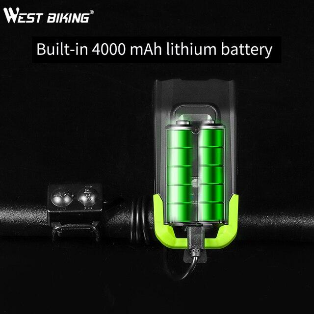 4000mah conjunto de luz dianteira da bicicleta indução inteligente usb recarregável 800 lúmen led luz da bicicleta com chifre lâmpada ciclismo lanterna 6