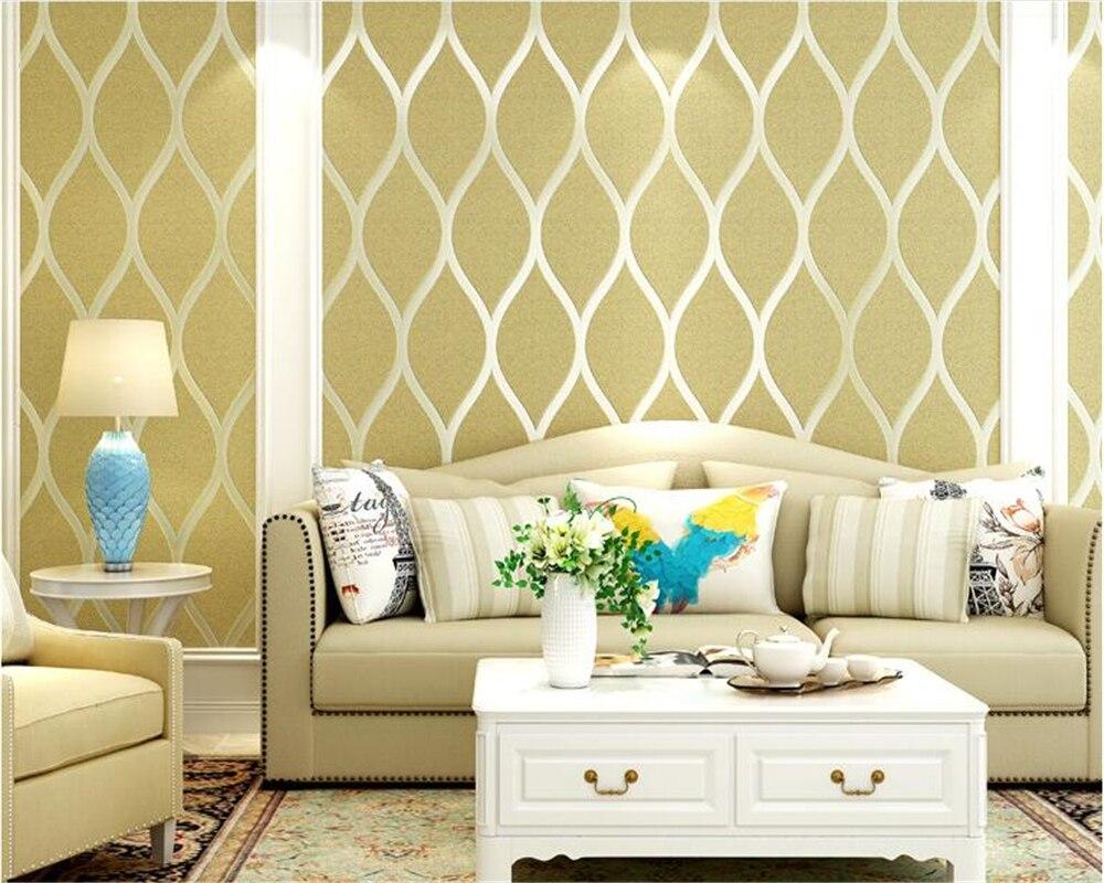 Beibehang papiers peints décor à la maison moderne minimaliste classique mode non tissé en relief vague chambre salon papier peint behang