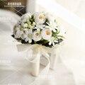 Hot Sale 8 Colors Bouquet Garden Romantic Wedding Bouquet de mariage Polyester Wedding Bouquets Pearl Flowers buque de noiva