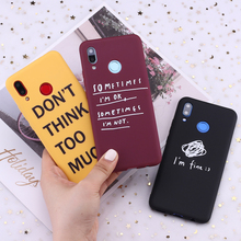 For Samsung S8 S9 S10 S10e Plus Note 8 9 10 A7 A8 I am Fine Ok Relief Words Candy Silicone Phone Case Cover Capa Fundas Coque
