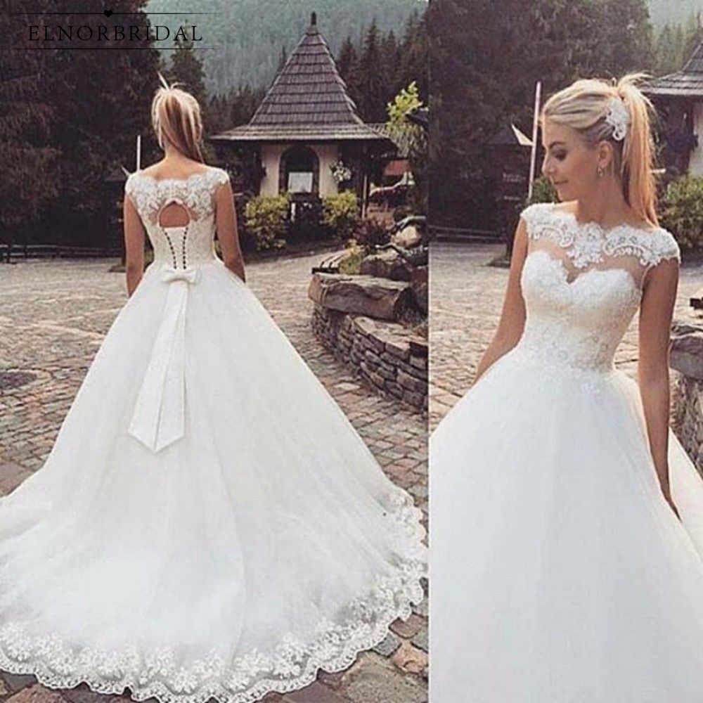 Beach Tulle Ball Gown Wedding Dresses