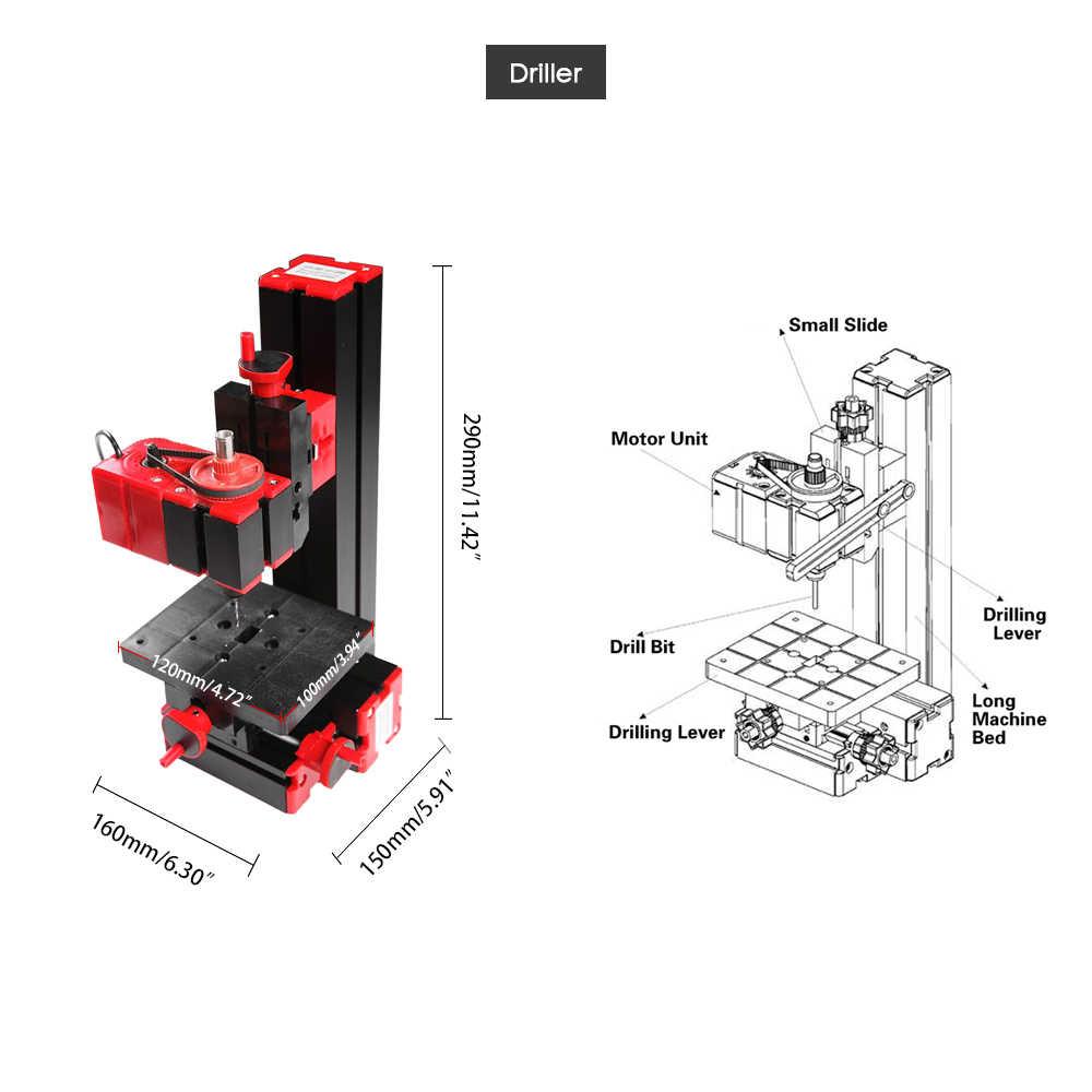 Torna makinesi ahşap torna Torno Metal Mini DIY 6 in 1 multi-fonksiyonel motorlu trafo yapboz değirmeni matkap plastik metal