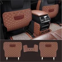 CNORICARC Schienale del Sedile In Pelle Per Auto Anti Kick Pad Car Interior Anti sporco mat Bracciolo Box di Protezione pad per BMW X5 f15 2014-18