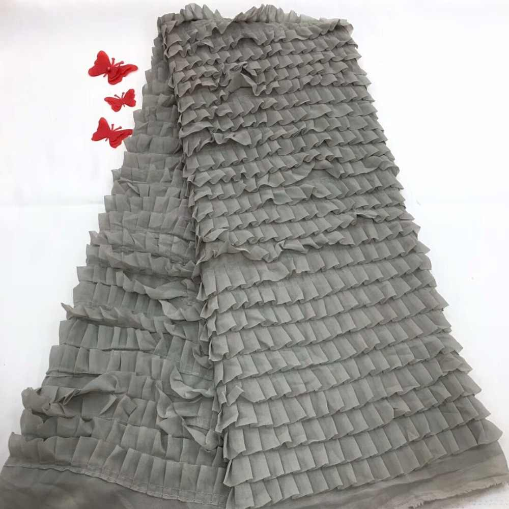 Cassiel African Glittery Lace Fabric 2018 High Quality Lace Material Grey French Lace Fabric Nigerian Tulle Mesh Lace Fabrics