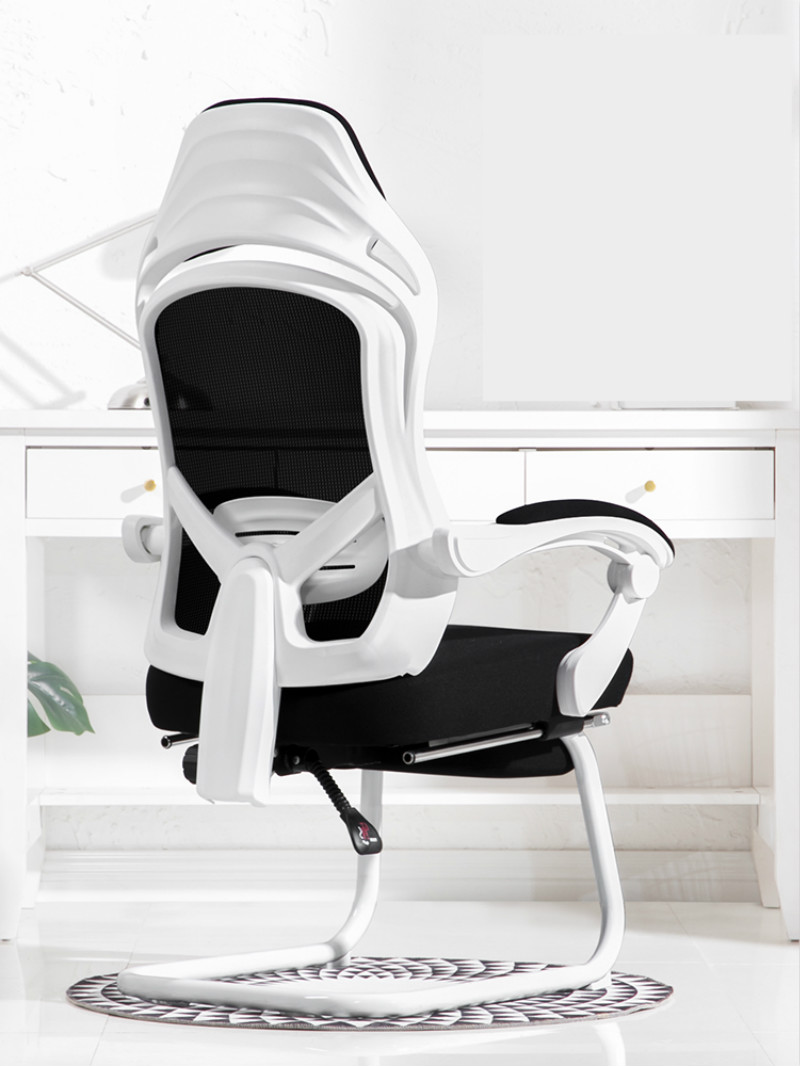 Computer Chair E-sports Chair Household Bow-shaped Seat Dormitory Chair Comfortable Seated Sliding Swivel Chair Reclining Seat