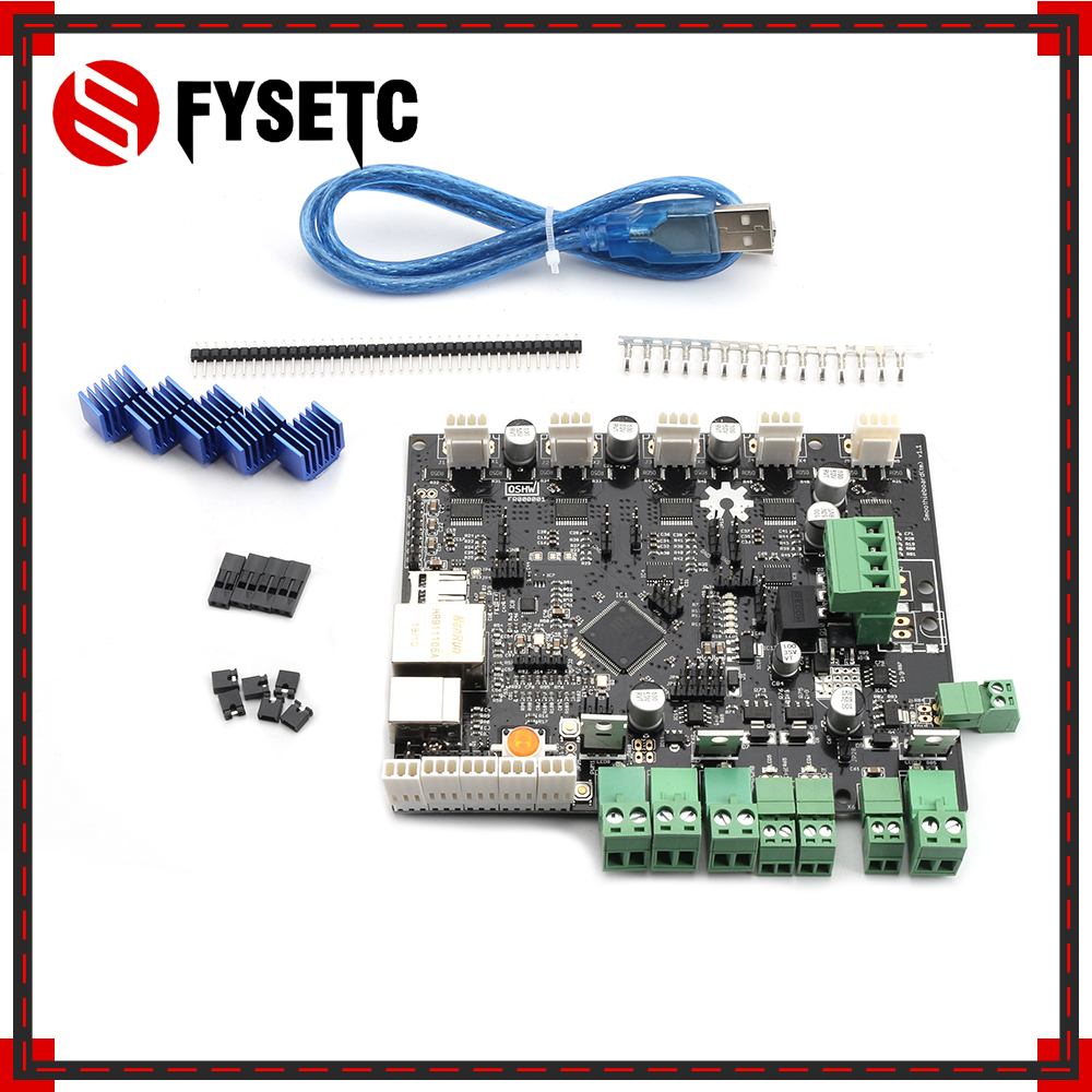 3D Printer Smoothieboard 5X 5XC V1.1 ARM Open Source Motherboard 32 Bit Control Board For CNC 3D Printer Parts3D Printer Smoothieboard 5X 5XC V1.1 ARM Open Source Motherboard 32 Bit Control Board For CNC 3D Printer Parts