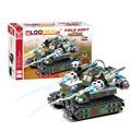 Todo los niños les encanta! 262 unids/set DIY pequeñas partículas bloques de construcción ejércitos campo tanque montar educativa temprano juguete Brinquedos