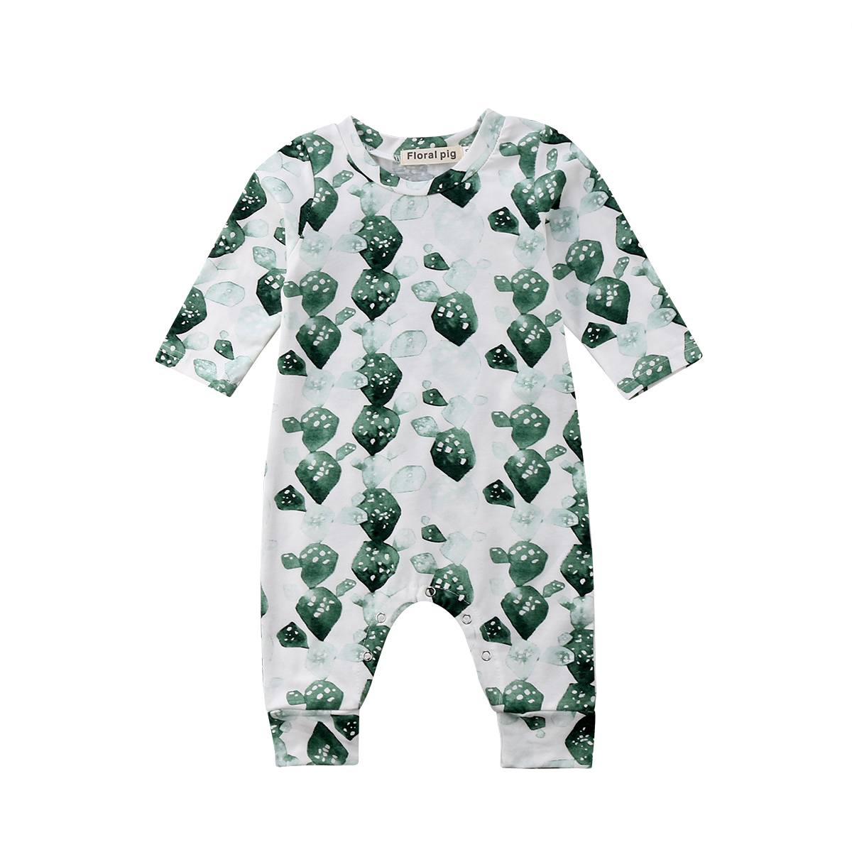 9e31f900b Newborn Baby Girls Boys Rompers Cactus Pattern Summer Jumpsuit ...